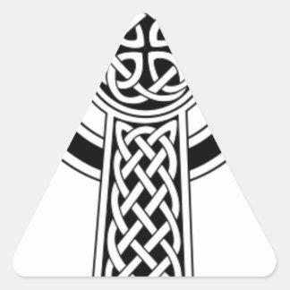 Celtic cross triangle sticker