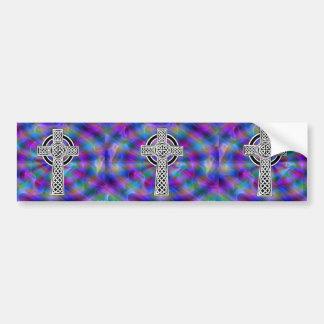 celtic cross wave bumper sticker