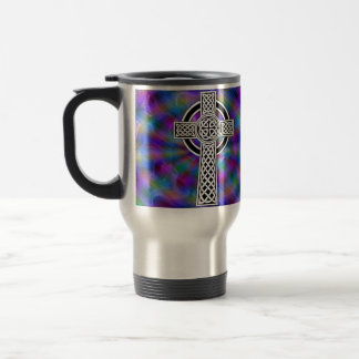 celtic cross wave travel mug