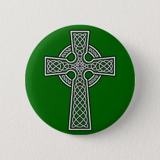 Celtic Cross white and clear 2 Inch Round Button