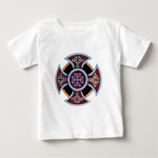 Celtic Cross with pattern Baby T-Shirt