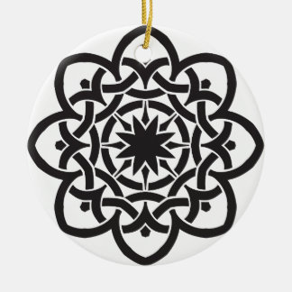 Celtic Design double-sided Ceramic Ornament