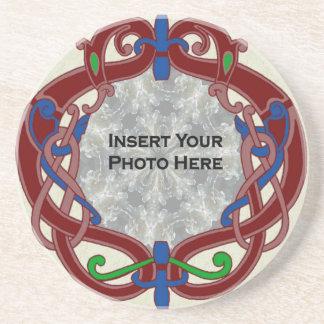 Celtic Design Photo Template Coaster
