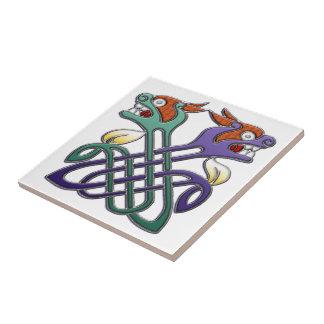 Celtic Design Split Heads Tile