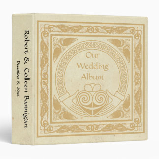 Celtic Design with Claddagh Wedding Photo Album Binder