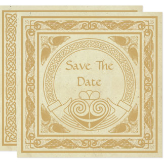 Celtic Design With Claddagh Wedding Save The Date Card