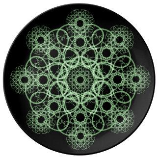 Celtic Disc Mandala Porcelain Plates