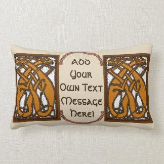 Celtic Dogs Lumbar Pillow