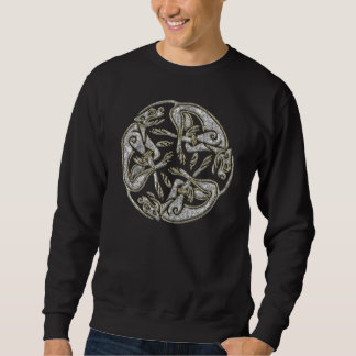 Celtic dogs  traditional ornament gold and silver sweatshirt