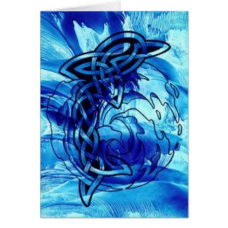 Celtic Dolphin Card