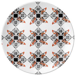 Celtic dolphins porcelain plates