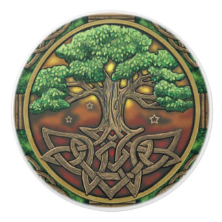Celtic Door or Drawer Knob Ceramic Knob