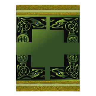 """Celtic Dragon 5.5"""" X 7.5"""" Invitation Card"""