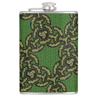 Celtic Dragon Chain Flask
