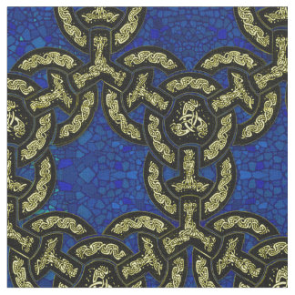 Celtic Dragon Chain in Dark Blue Fabric