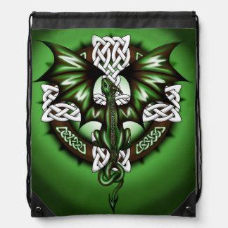 Celtic Dragon Drawstring Bag