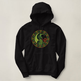 Celtic Dragon Embroidered Hoodie
