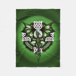 Celtic Dragon Fleece Blanket