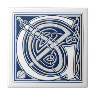 Celtic Dragon Initial G Tile