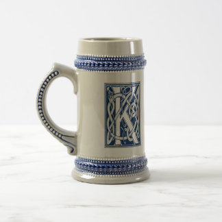 Celtic Dragon Initial K Beer Stein