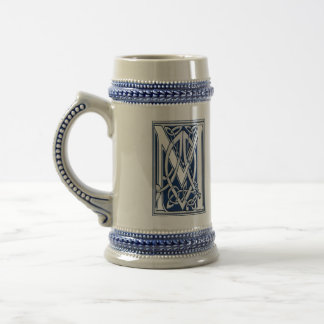 Celtic Dragon Initial M 18 Oz Beer Stein