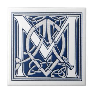 Celtic Dragon Initial M Tile