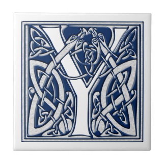 Celtic Dragon Initial Y Tile