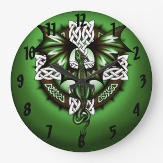 Celtic Dragon Large Clock