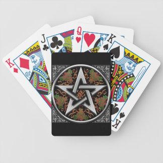 Celtic Dragon Pentagram Bicycle Playing Cards
