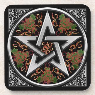 Celtic Dragon Pentagram Coaster