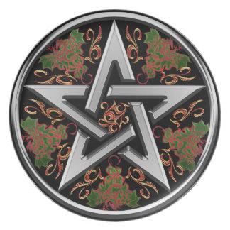 Celtic Dragon Pentagram Party Plates