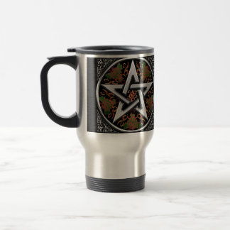 Celtic Dragon Pentagram Travel Mug