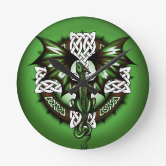 celtic Dragon Round Clock