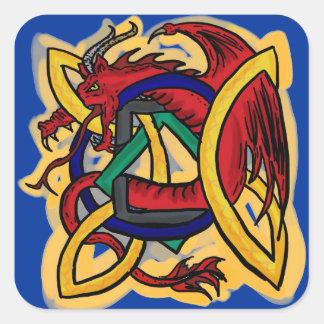 Celtic dragon stickers