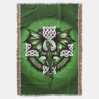 Celtic Dragon Throw Blanket