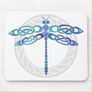 Celtic Dragonfly Mouse Pad