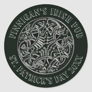 Celtic Entwined Design St. Patrick's Day Classic Round Sticker