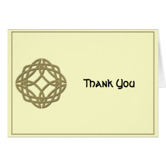 Celtic Eternity Knot Gold and Ivory Thank You Card