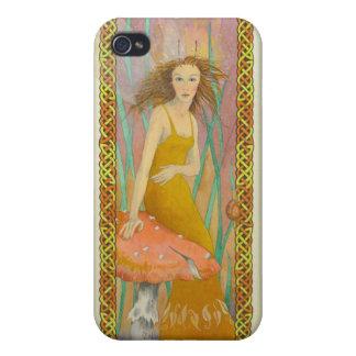 celtic fairy in orange iPhone 4/4S cover