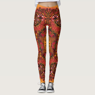Celtic Fall Fairy Mandala Leggings