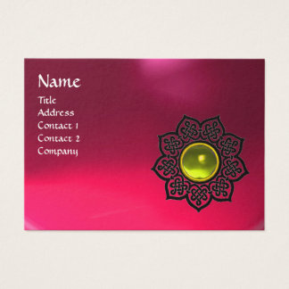 CELTIC FLOWER MONOGRAM pink ruby, yellow topaz Business Card