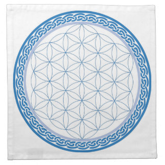 Celtic Flower of Life for Communication Cloth Napkins