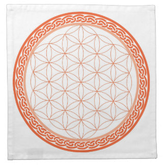 Celtic Flower of Life for Creativity/Relationships Printed Napkin