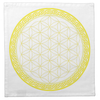 Celtic Flower of Life for Self Esteem Printed Napkin