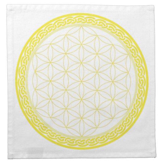 Celtic Flower of Life for Self Esteem Printed Napkin