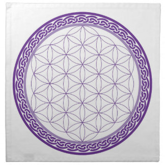 Celtic Flower of Life grid for Psychic Work Napkin