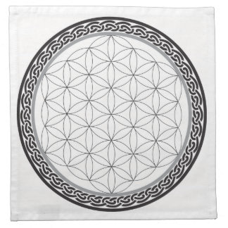 Celtic Flower of Life Grid Printed Napkin