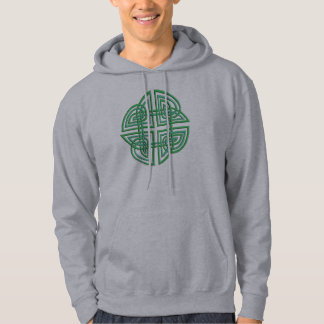 Celtic Four Leaf Clover in Knotwork Hoodie