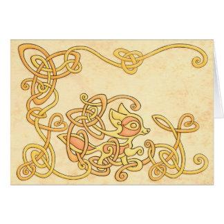 Celtic Fox Greeting Card