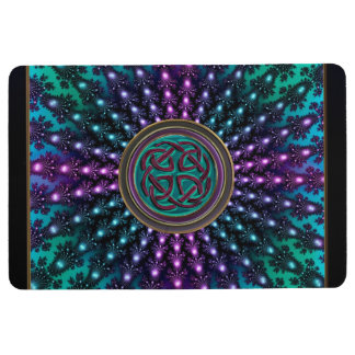 Celtic Fractal Mandala With Celtic Knot Floor Mat